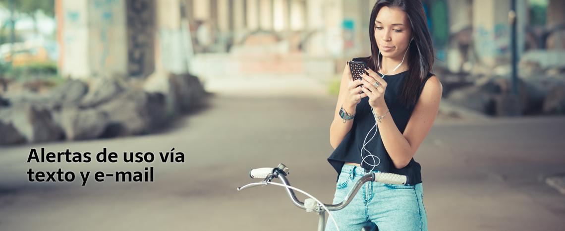 • Obtenga actualizaciones diarias de saldo vía texto o e-mail
